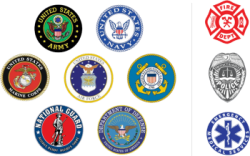 military and first responders discount